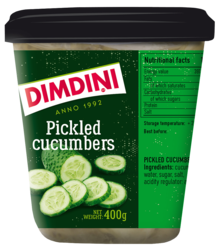 Pickled cucumbers in sweet marinade 400g