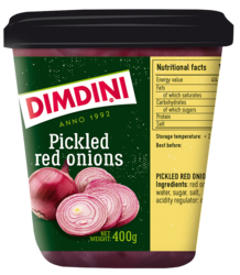 Pickled red onions 400g